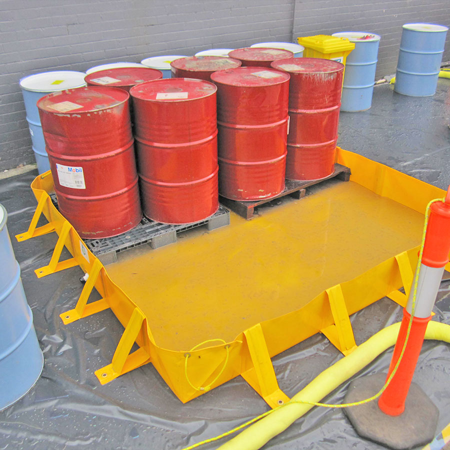 Pvc Collapsible Bund Spill Ready