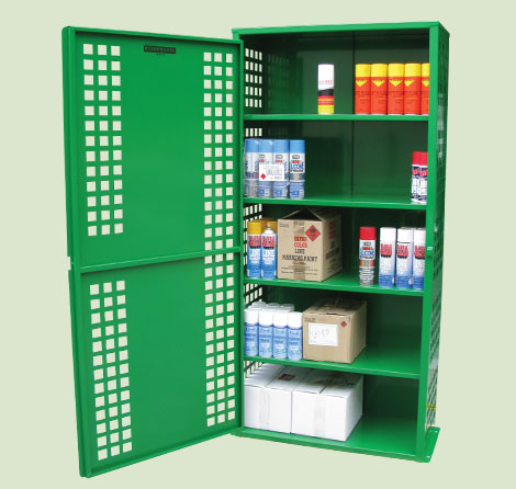 216 Can Free Standing Aerosol Storage Cage Spill Ready